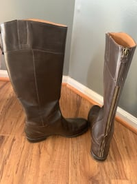 Nine West Leather Boots - size 9.5 (Like-New/Worn once)