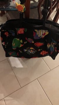 Black multicolored bag duffle bag with tropical fish. Vacation bag. Never used   Colts Neck, 07722