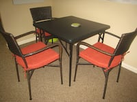 Pottery Barn Chairs + Folding Table Winter Park