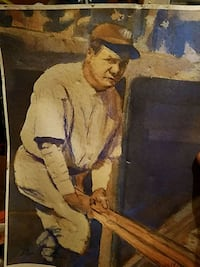 Original hand painting of Babe Ruth by ben teeter  San Angelo