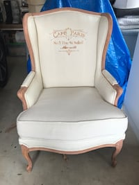 French Country Wing Back Chair