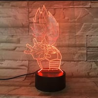 Brand new 3D light 7 different colours vegeta dragon ball z Toronto, M6B 3S5