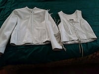 Ladies white leather jacket w/Matching vest York, 17404