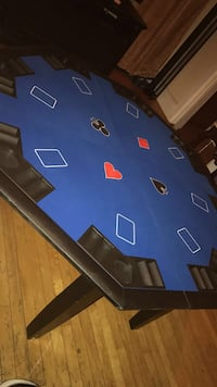 Card table w/ cards & chips