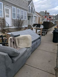 Free sectional, coffee tables, and shelving