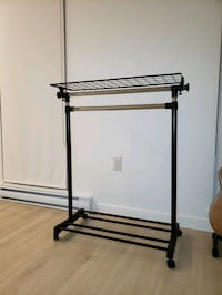 Adjustable single/dual clothing rack