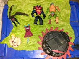 heman action figues 6 in all