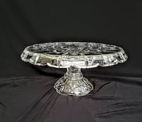 Gorham Crystal - Lady Anne, Round Cake Stand - Vintage 1980s - Discontinued Hampton