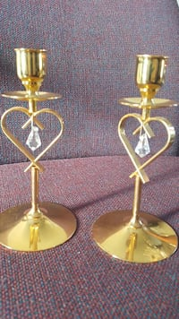 gold-colored candle holder stands Winnipeg, R3Y 1N3