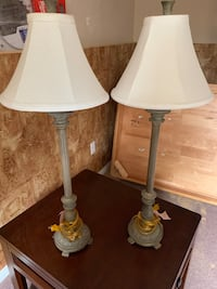 two white and gray table lamps Brantford, N3T 6M5