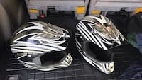 Black-and-white motocross helmets Boaz, 35957