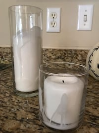 5 large and 1 small candle glass votive with candle Fairfax, 22033
