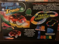 Light up race cars with track