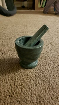 Soapstone mortar and pestle  Howell, 07731