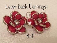 Lever back Flower Earrings