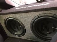"2 10"" Memphis audio subwoofers. Never been used, they didn't fit in my car. Comes with a 1500w amp Colorado Springs, 80906"