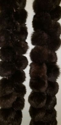 Genuine rabbit fur scarf