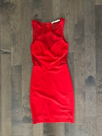 Woman red lacy summer dress Toronto, M5A
