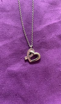 Heart Shaped Breast Cancer Awareness Ribbon Necklace