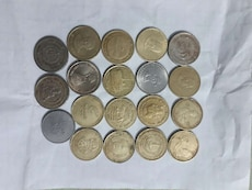 5 rupees commemoratives coins.