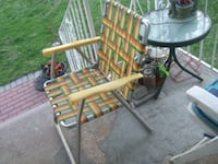 """""""vintage different aluminum foldable web chair, 5247,5201 Mississauga"""