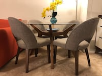 black wooden dining table with chairs set Arlington, 22202
