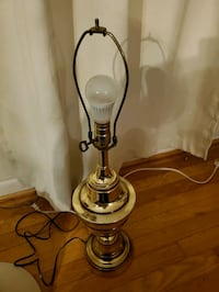 Old brass lamp w/ key knob Norfolk