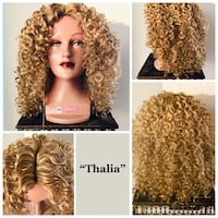 Blonde Curly Wig for Everyday or Cosplay Calgary, T2P