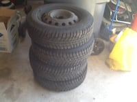 Four winter tires with rims Mississauga, L4Z 3W3
