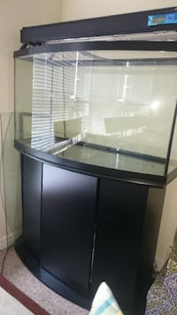 clear glass tank cabinet with black frame Markham