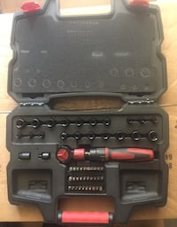 red handle ratchet wrench set in case Portsmouth, 23704