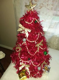 red and white Christmas tree Houston, 77064
