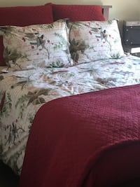 Bedding with Red coverlet Toronto, M5M 1K7