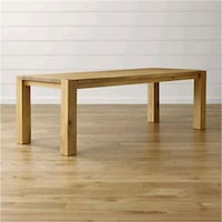 Crate and Barrel - big sur white oak dining table Barrie, L4N 9K7