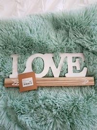 Wooden love decorative sign