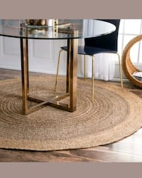 6ft Hand Braided Bohemian Jute Round Area Rug - NEW Fort Lauderdale, 33315