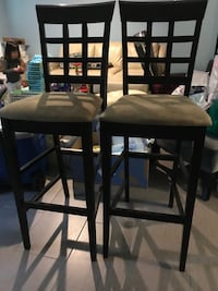two brown wooden bar stools Gaithersburg, 20878