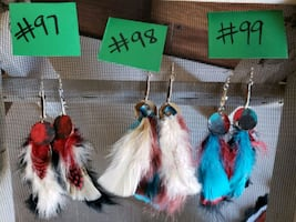 Feather earring sets
