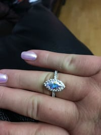 silver and blue gemstone ring Clarence-Rockland, K0A 1E0