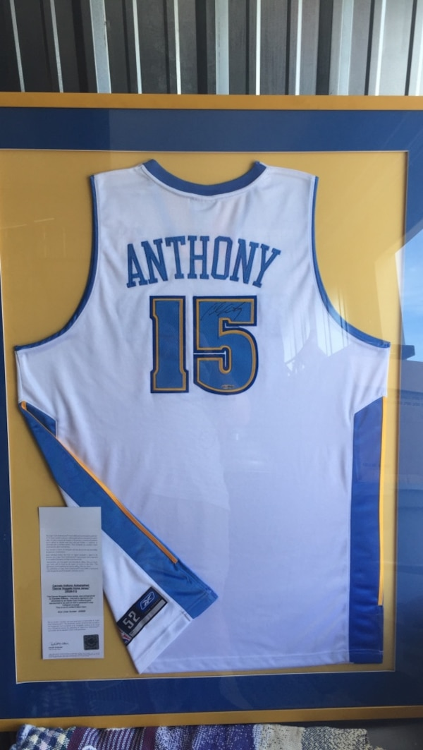 f1998978480 Used Carmello Anthony Uda nuggets jersey autographed for sale in ...