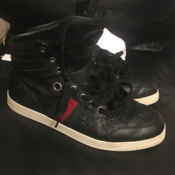 67c54ea54c1 Used black ankle high gucci sneakers for sale in Boston - letgo