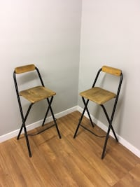 Two foldable bar height chairs Abbotsford, V2T 2H4