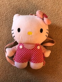 White and pink hello kitty purse/backpack