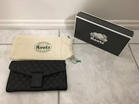 Roots Chloe Clutch Black Quilted Leather - New with tags Montréal