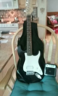 black and white stratocaster electric guitar Litchfield, 03052