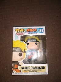 Naruto rasengan and Sasuke pop figures