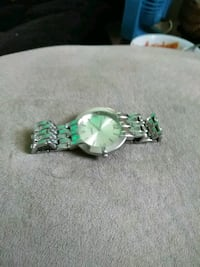 silver-colored and green gemstone ring Manassas