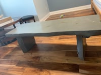 Pine Wood 4ft Bench w/ Grey Stain