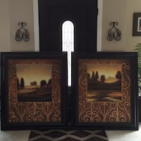 Two dark brown wooden framed scenery pictures Laguna Niguel, 92677