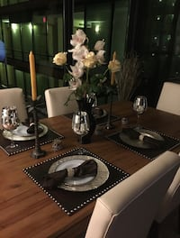 Dinning table with white leather chairs  Littleton, 80128